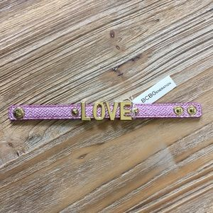 "BCBGeneration purple ""LOVE"" bracelet"